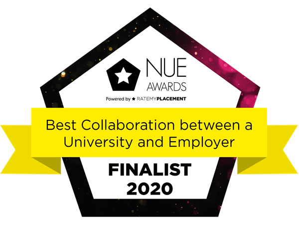 Best Collaboration between a University and Employer Finalist Badge 2020