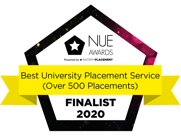 Best University Placement Service (Over 500 Placements) Finalist Badge 2020