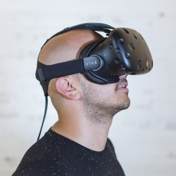 man with VR gear