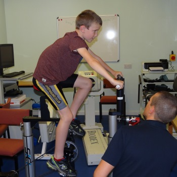 Bike riding biomechanics and performance in children