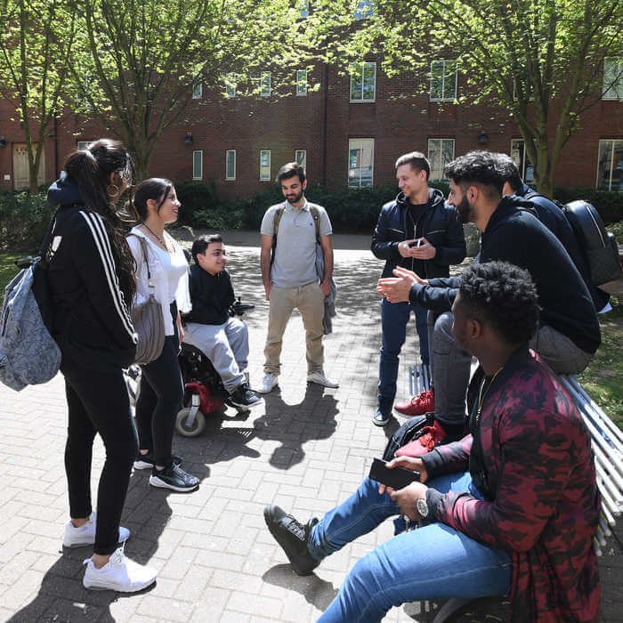 group of students chatting 1