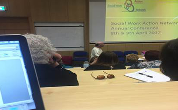 image of Brunel Social Work students attend SWAN Conference 2017