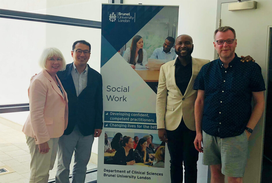 Brunel social work team with Phillip Hong from Loyola Uni