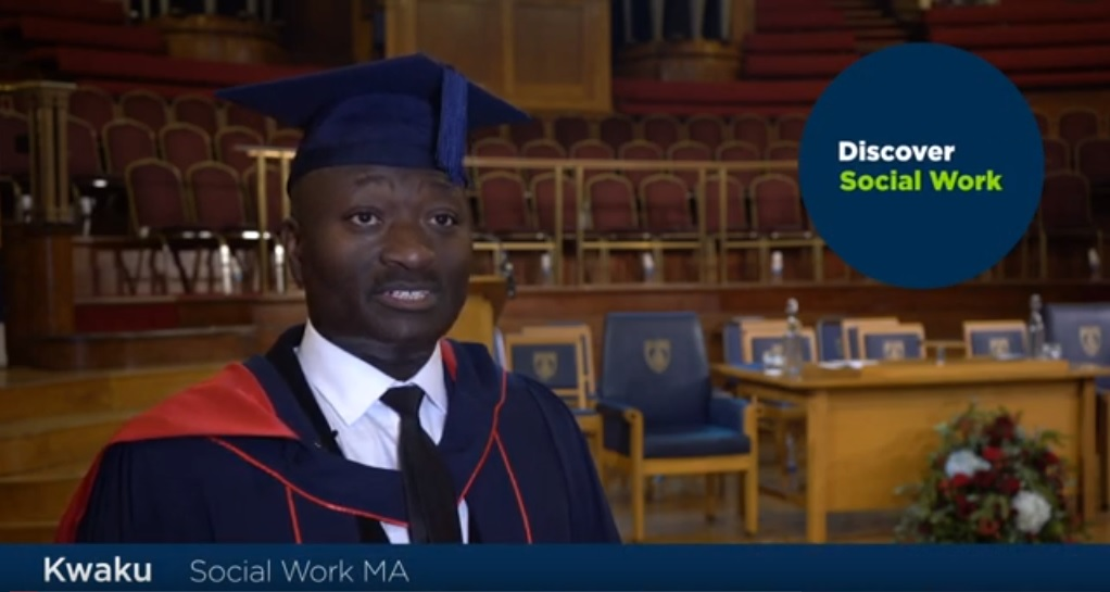 Brunel Social Work student Kwaku on his graduation day