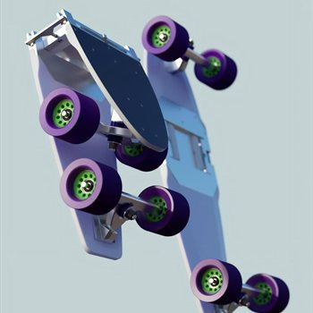 Iconicle folding skateboard