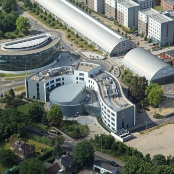 Aerial picture of Brunel University Campus using drone