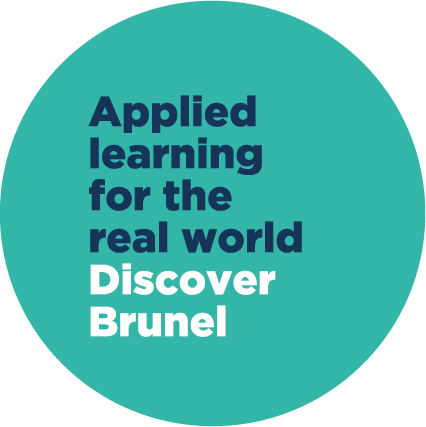 blue text applied learning for the real world in a green circle
