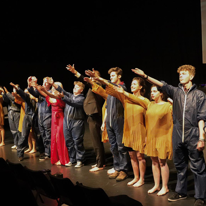 Students performing on the stage of Theatre Studio at Brunel University London  (8)