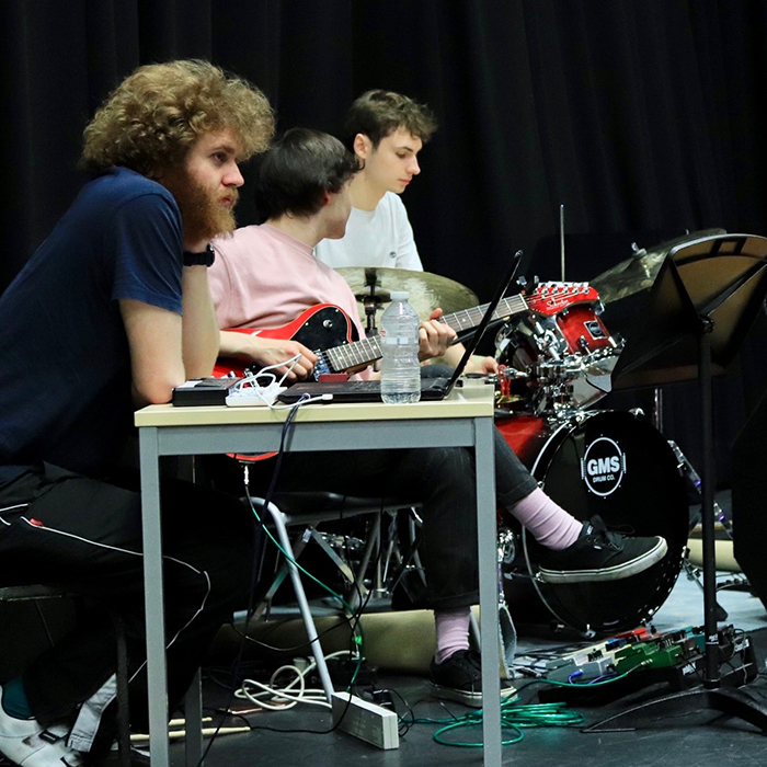 Students performing on the stage of Theatre Studio at Brunel University London  (9)